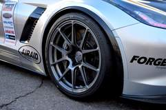 "Jordan Priestley's ""Bernice"" JDP Motorsports-Tuned C7 Corvette Grand Sport on Forgeline One Piece Forged Monoblock GA1R Open Lug Wheels"