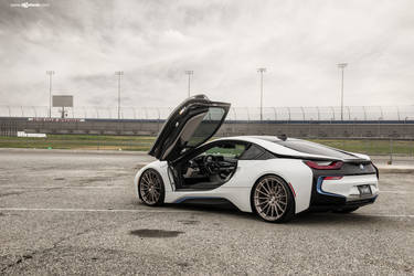 "2016 BMW i8 | BMW i8 on 22"" Avant Garde's - Stormy Photo Shoot"