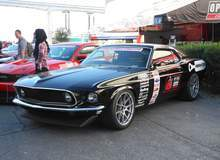 Hal Baer's 1969 Mustang Mach 1 on Forgeline One Piece Forged Monoblock GA1R Wheels - Front Angled Shot