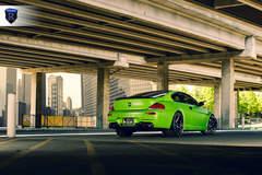 Green BMW 6 Series - Rear