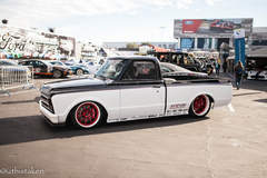 "Speedtech's ""Evil Oreo"" Chevy C-10 Pickup Truck on Forgeline GT3C Concave Wheels"