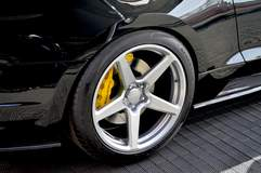 Saleen Automotive's 35th Anniversary SA 35 #001 Ford Mustang on Forgeline One Piece Forged Monoblock CF1 Open Lug Wheels