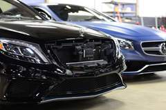 Two Mercedes Benz' in for XPEL clear bra