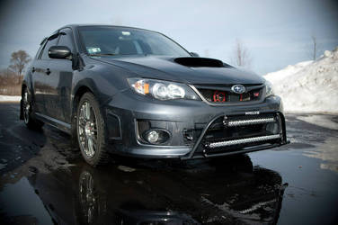 Subaru with Rigid Industries lights