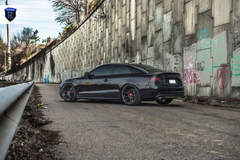Black Audi S5 - Lowered Stance