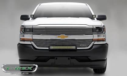 2016 Chevrolet Silverado 1500 Laser Billet Grille, Overlay - Polished- Pt # 6211270