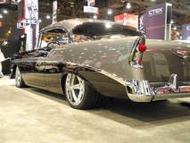 Chris Holstrom Concepts '56 Bel Air on Forgeline CF3C Wheels - Drive Side Angle