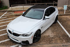 BMW M3 protected with XPEL ULTIMATE clear bra