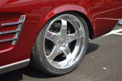 Terry Minor's Classic Restorations '66 Mustang Convertible on Forgeline CH3P Wheels