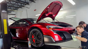 McLaren 675LT in for XPEL ULTIMATE self-healing clear bra