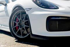 Dave's SP Motorsports-Tuned Porsche Cayman GT4 on Forgeline One Piece Forged Monoblock GS1R Satin Wheels