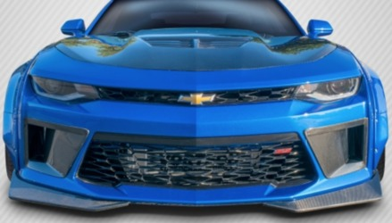 Chevrolet Camaro Carbon Creations DriTech Grid Front Bumper Air Duct Extensions Add Ons - 2 Piece