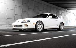 Super White Toyota Supra MKIV Turbo - CCW Classic Forged Wheels