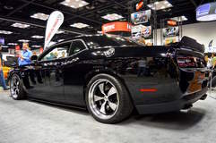 "The Downforce Motorsports ""Warhawk"" 345 Stage II Dodge Challenger on Forgeline CR3 Wheels - Lowered Shot"