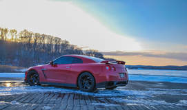 """Nissan GT-R on 20"""" Vorsteiner V-FF 103 Wheels - Rear Side Shot"""