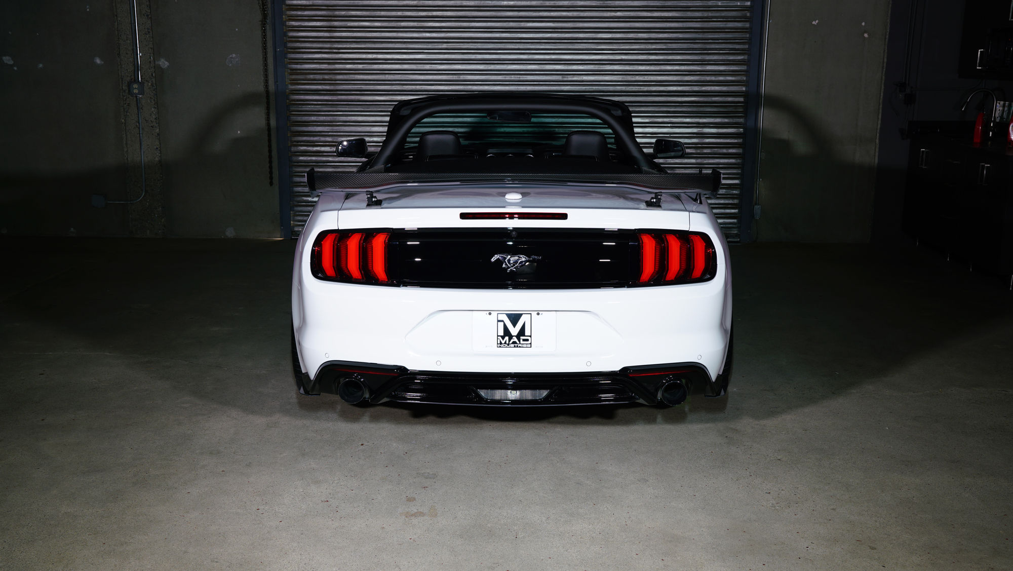 2018 ford mustang 2018 ford mustang ecoboost convertible by mad industries featuring diode dynamics