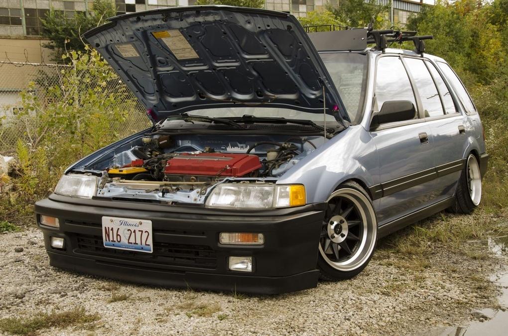 1988 Honda Civic | Ruff Racing R358's on '88 Honda Civic Wagon