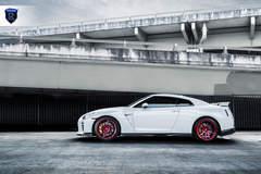 White Nissan GTR - Side