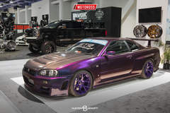 Nissan R34 Skyline GT-R - SEMA 2016 STR Racing Booth