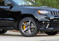 C Van Tune's Jeep Grand Cherokee Trackhawk on Forgeline One Piece Forged Monoblock CF1 Wheels