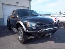 "Black Ford Raptor with a 30"" Rigid Industries Light Bar"