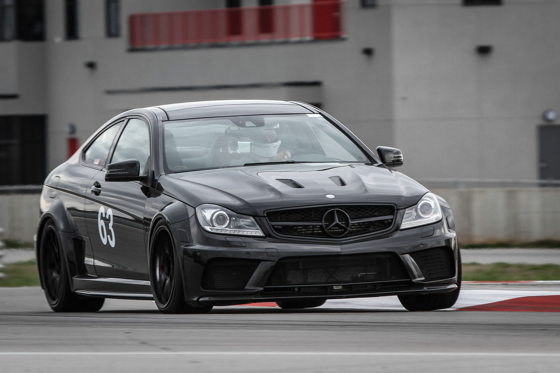 2014 Mercedes-Benz C63 AMG | Bernhard Weber's Mercedes AMG C63 Coupe on Forgeline One Piece Forged Monoblock GA1R Open Lug Cap Edition Wheels