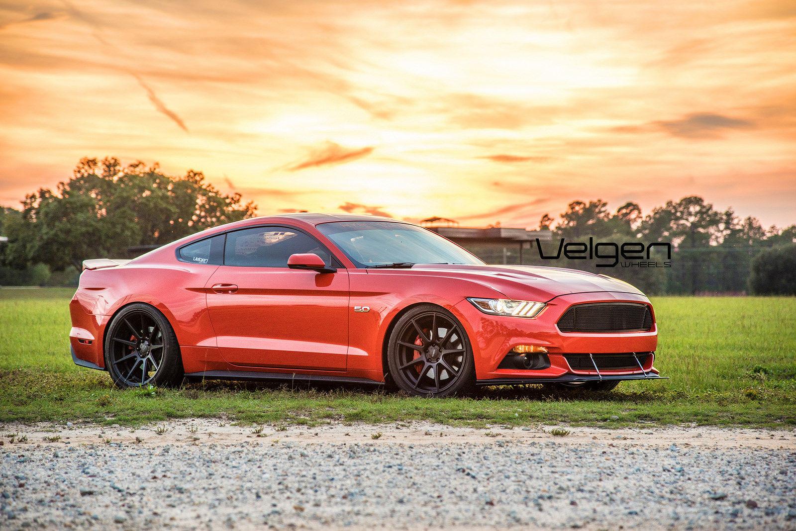 2015 Competition Orange Mustang Gt Velgen Wheels