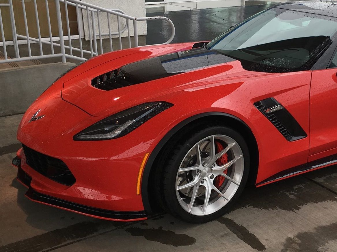 2016 Chevrolet Corvette Z06 | Red Chevrolet C7 Corvette Z06 on Forgeline One Piece Forged Monoblock VX1 Wheels
