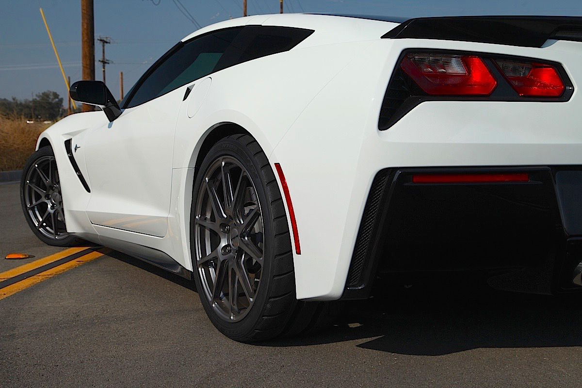 2015 Chevrolet Corvette Stingray | Power Automedia's Project C700 Procharged Corvette Stingray on Forgeline One Piece Forged Monoblock GA1R Wheels