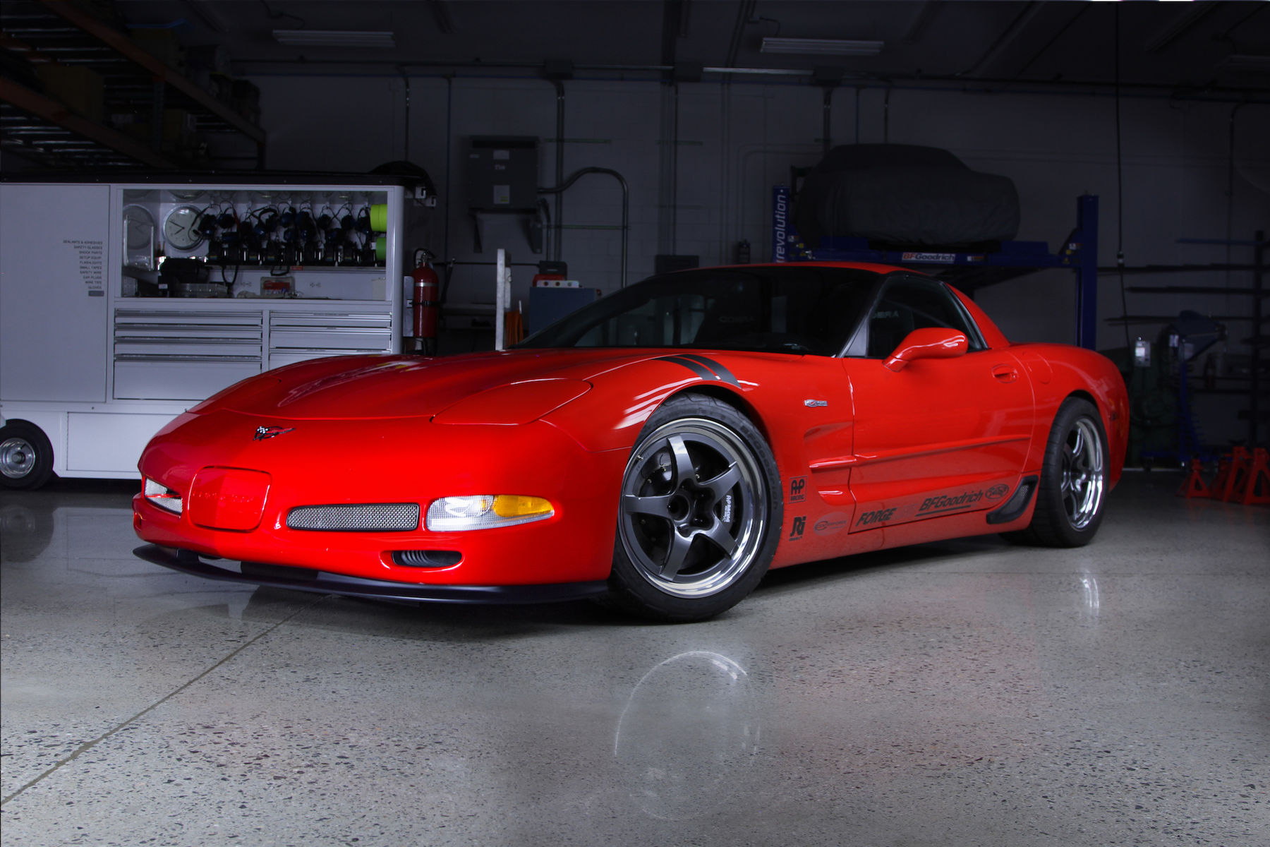 2004 Chevrolet Corvette Z06 | Ryan Mathews' C5 Corvette Z06 on Forgeline GF3 Open Lug Wheels