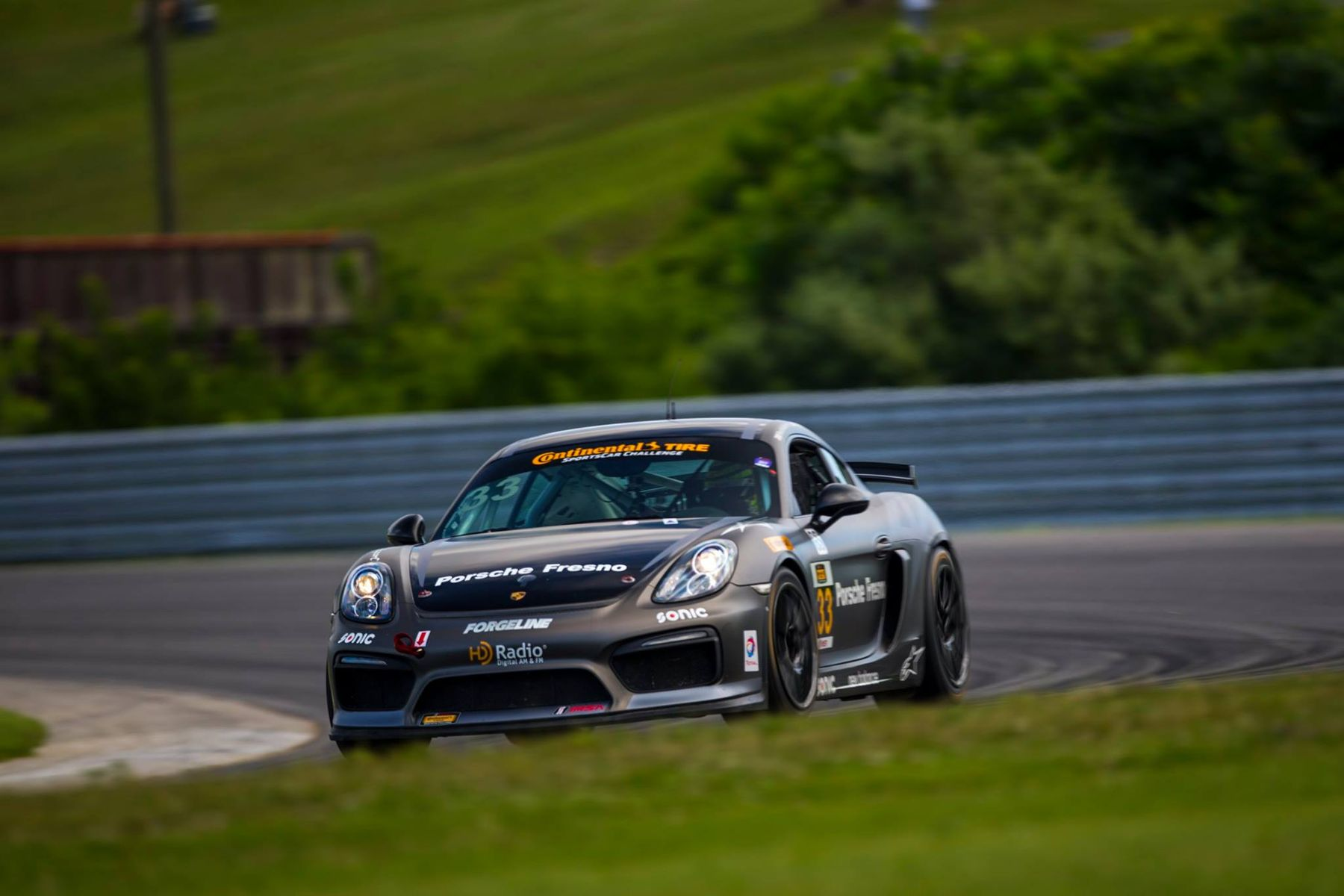 2017 Porsche Cayman | Stevenson Motorsports Wins IMSA CTSC GS, at Lime Rock Park, in the #57 Chevrolet Camaro GT4.R on Forgeline One Piece Forged Monoblock GS1R Wheels