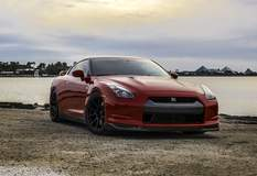 Tanner's GT-R on Forgeline GA1R Open Lug Cap Edition Wheels