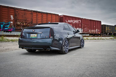 Cadillac CTS-V on Velgen Wheels VMB5