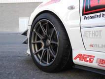 Showtime Motorsports Evo on Forgeline GA1R Open Lug Wheels - Close Up Wheel Shot