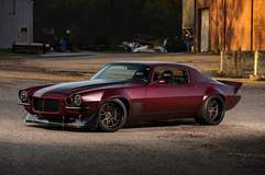 Dutchboys Hotrods Protouring 1971 Camaro on Forgeline GA3C Concave Wheels