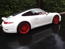 Sharkwerks Porsche 991 C4S on Forgeline One Piece Forged Monoblock GA1R Wheels