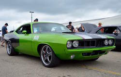 "Gil Haas' 1971 ""Viper Cuda"" on Forgeline CA3P Wheels"