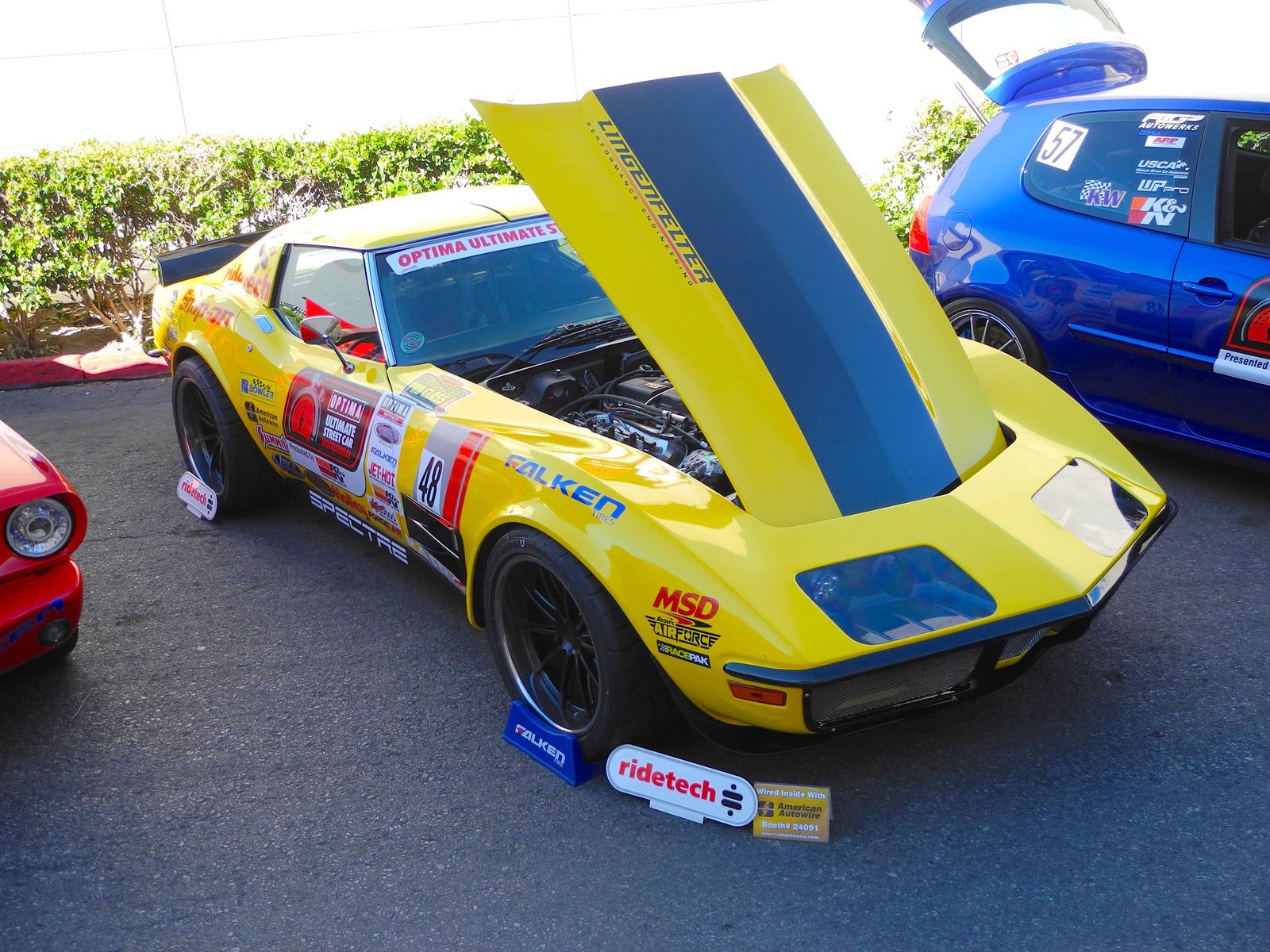 1972 Chevrolet Corvette | RideTech's 48 Hour Corvette at the 2015 SEMA Show on Forgeline GT3C Concave Wheels