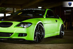 Green BMW 6 Series - Driver Side Spokes