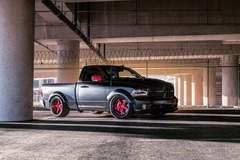 Dallas Speed Shop's Hellfire Dodge Ram Truck on Forgeline Heritage Series FF3 Wheels
