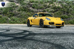 Yellow Porsche Boxster - Front Angled Shot
