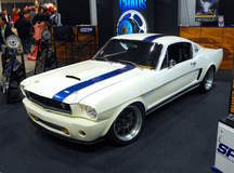 Matt Alcala's Widebody 1965 Ford Mustang Fastback on Forgeline GZ3R Wheels - Stance Shot