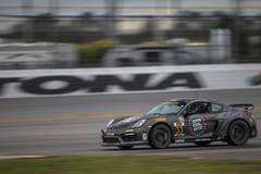 CJ Wilson Racing Porsche Cayman GT4 Clubsports Test at Roar Before the 24 on Forgeline One Piece Forged Monoblock GS1R Wheels