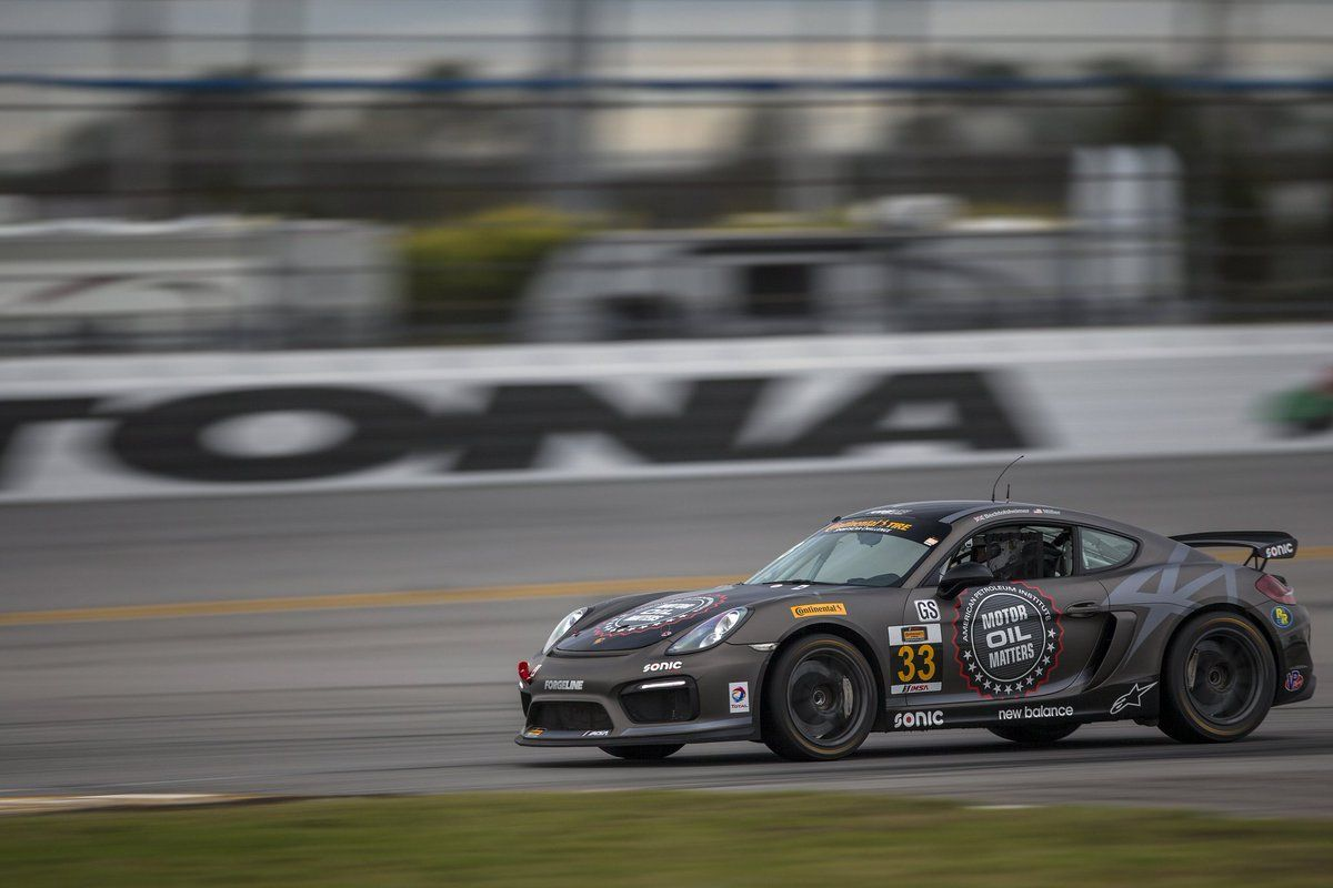 2017 Porsche Cayman | CJ Wilson Racing Porsche Cayman GT4 Clubsports Test at Roar Before the 24 on Forgeline One Piece Forged Monoblock GS1R Wheels