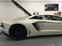 Lamborghini Aventador wrapped in XPEL STEALTH