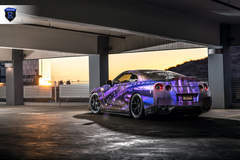 Wrapped Nissan GTR - Rear Side Shot