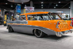 """John Dwire's '56 """"Nomax"""" Chevy Nomad on Grip Equipped Dropkick Wheels"""