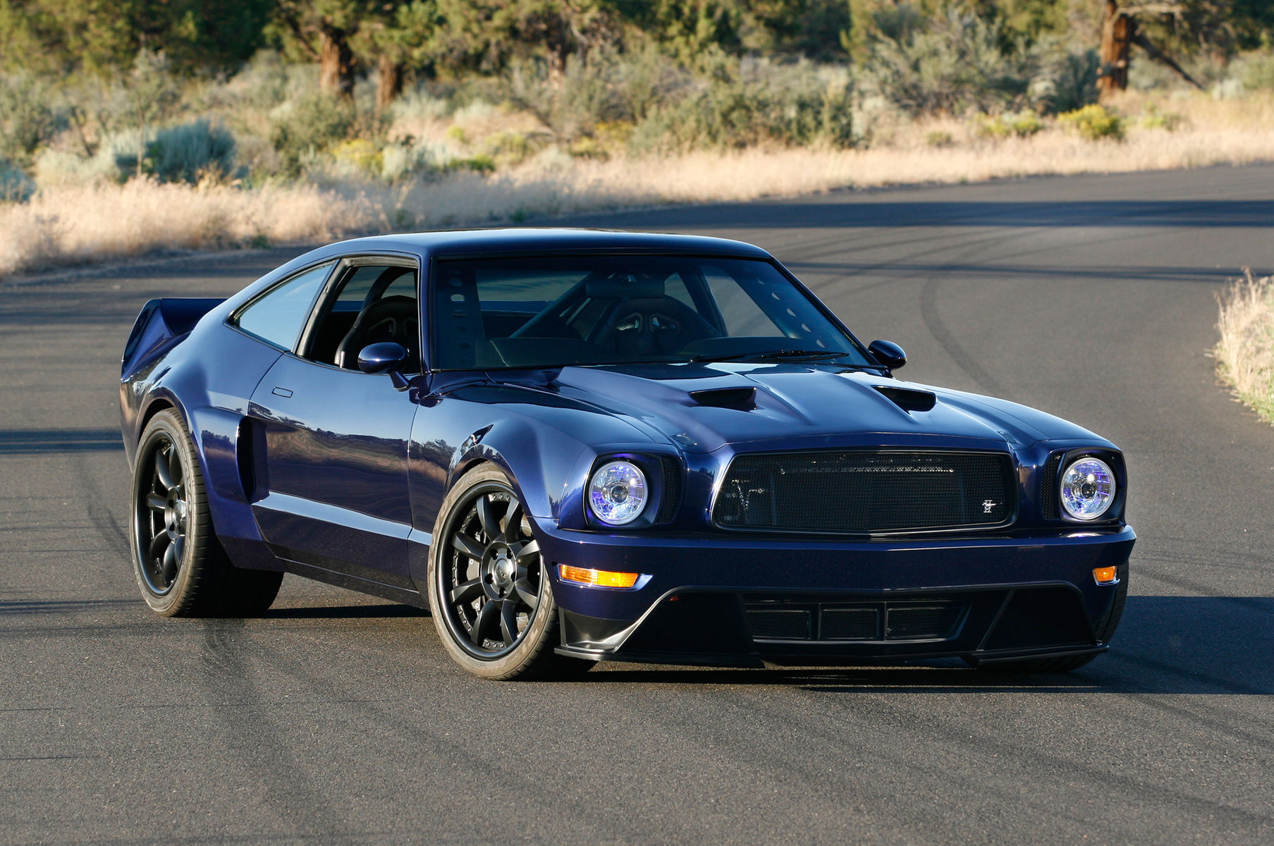 1978 Ford Mustang | Mustang II on Grip Equipped Laguna Wheels - Front Profile