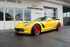 Swiss C7.R C7 Corvette Z06 on Forgeline One Piece Forged Monoblock GS1R Wheels