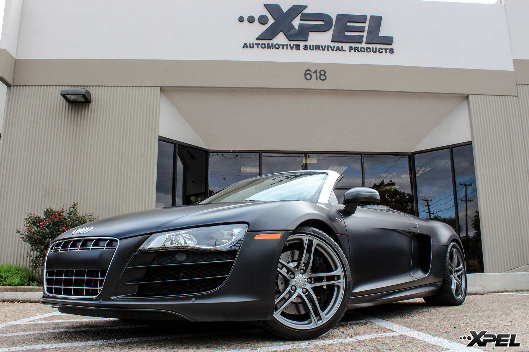 Audi R8 | Fully wrapped in XPEL STEALTH satin-finish paint protection film